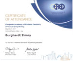 Dr. Burghardt Zimny 31th Annual Meeting European Academy of Esthetic Dentistry